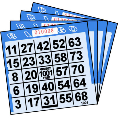 1 ON Blue Tint Paper Bingo Cards (500 ct)