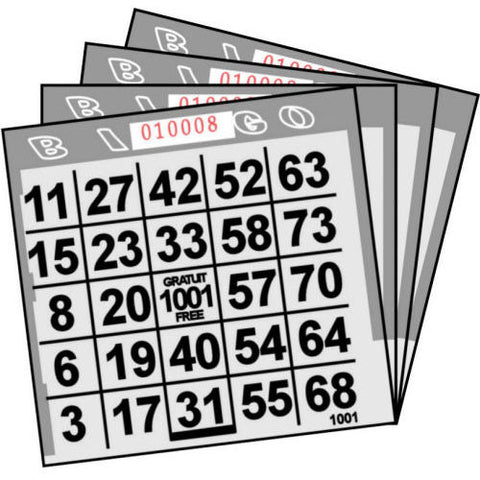 1 ON Gray Tint Paper Bingo Cards (500 ct)