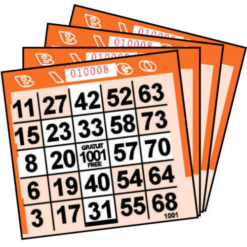 1 ON Orange Arrow Pattern Paper Bingo Cards (500 ct)