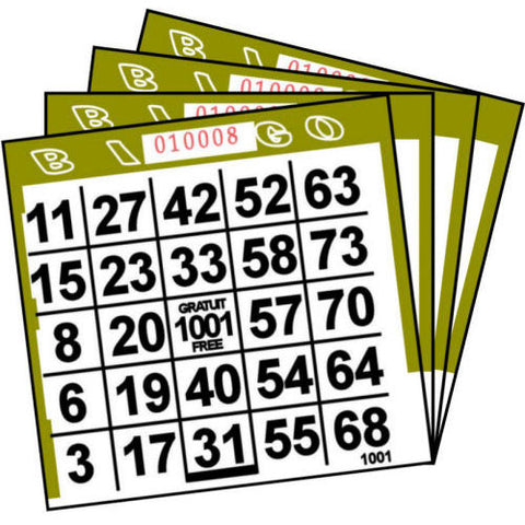 1 ON Olive Paper Bingo Cards (500 ct)