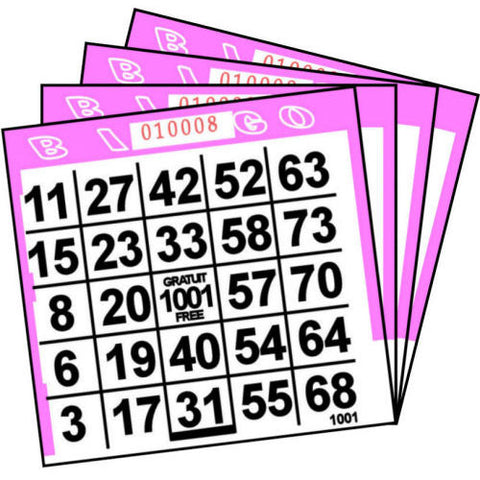 1 ON Pink Paper Bingo Cards (500 ct)