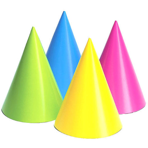 Neon Party Hats (8ct)