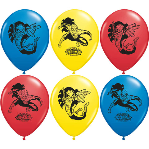 "12"" Ultimate Spider-Man Balloons (6ct)"