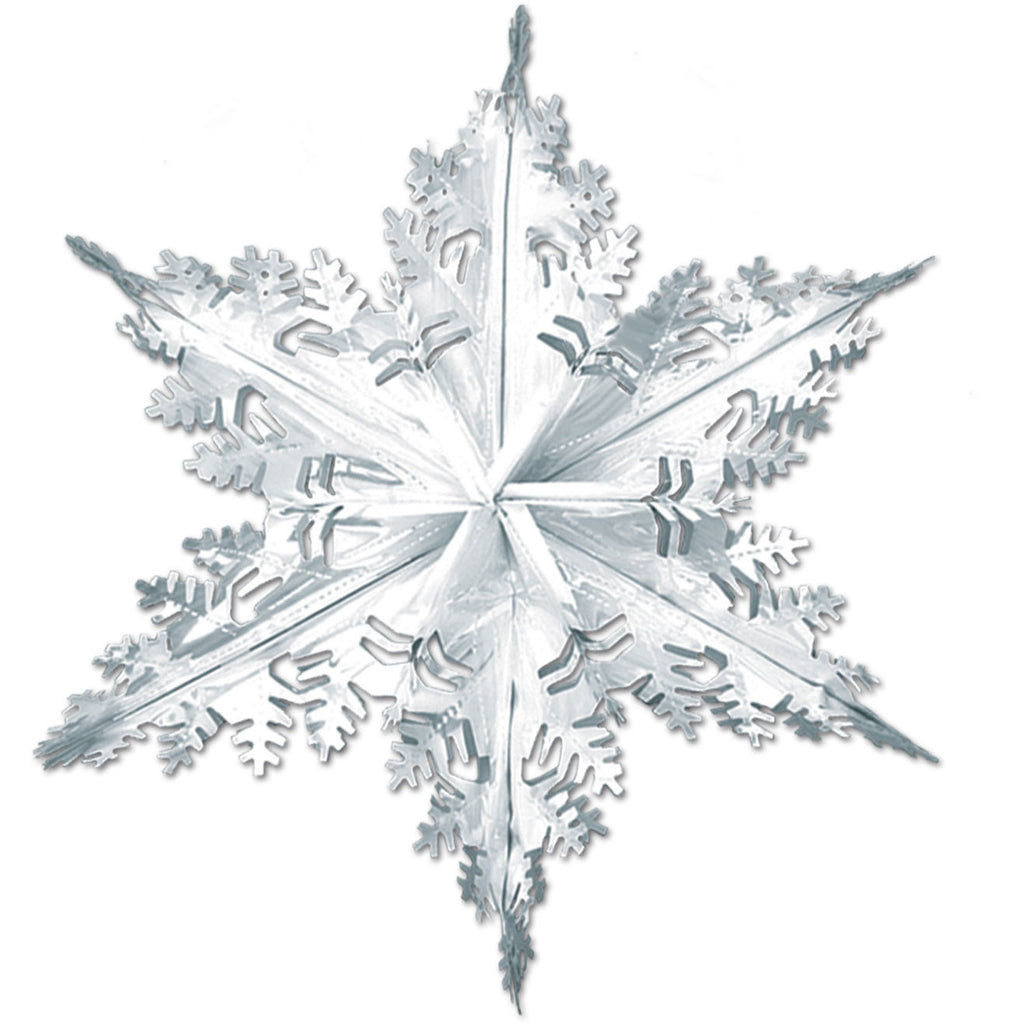 "24"" Metallic Winter Snowflake"