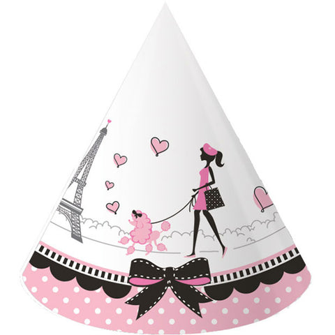 Party in Paris Paper Party Hats, Child Size