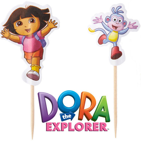 Dora the Explorer Cupcake Picks