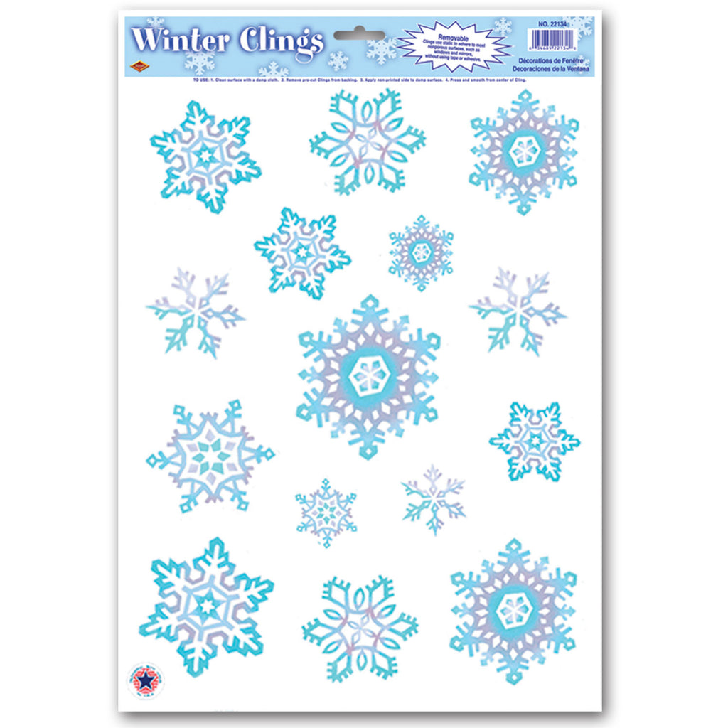 Crystal Snowflake Window Clings
