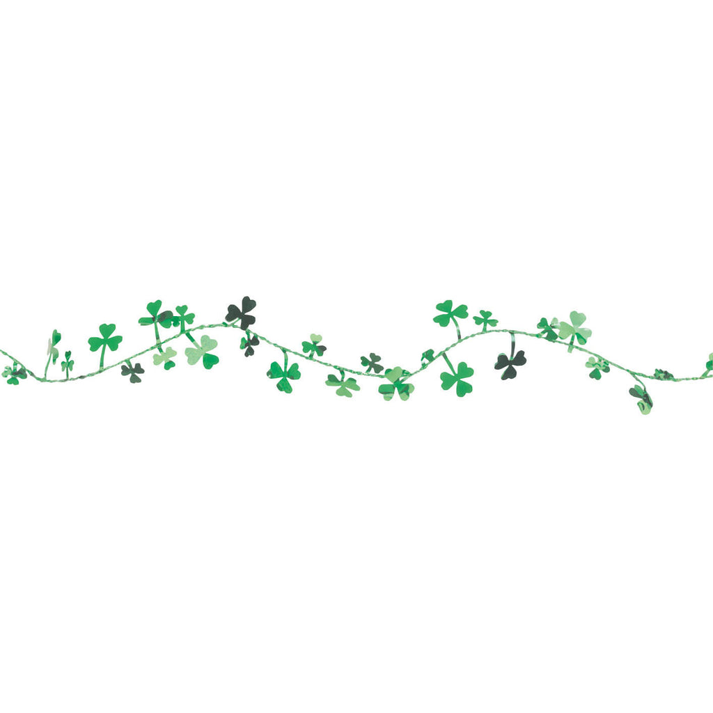 12' Wire Shamrock Garland