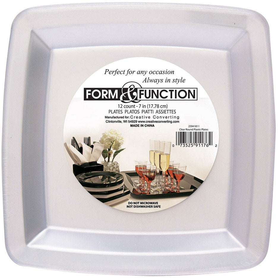 Form and Function Clear Dessert Plates (12ct)