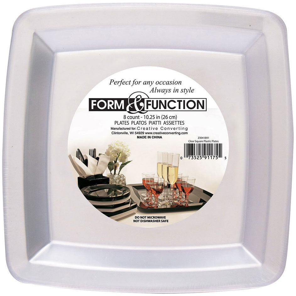 Form and Function Clear Banquet Plates (8ct)