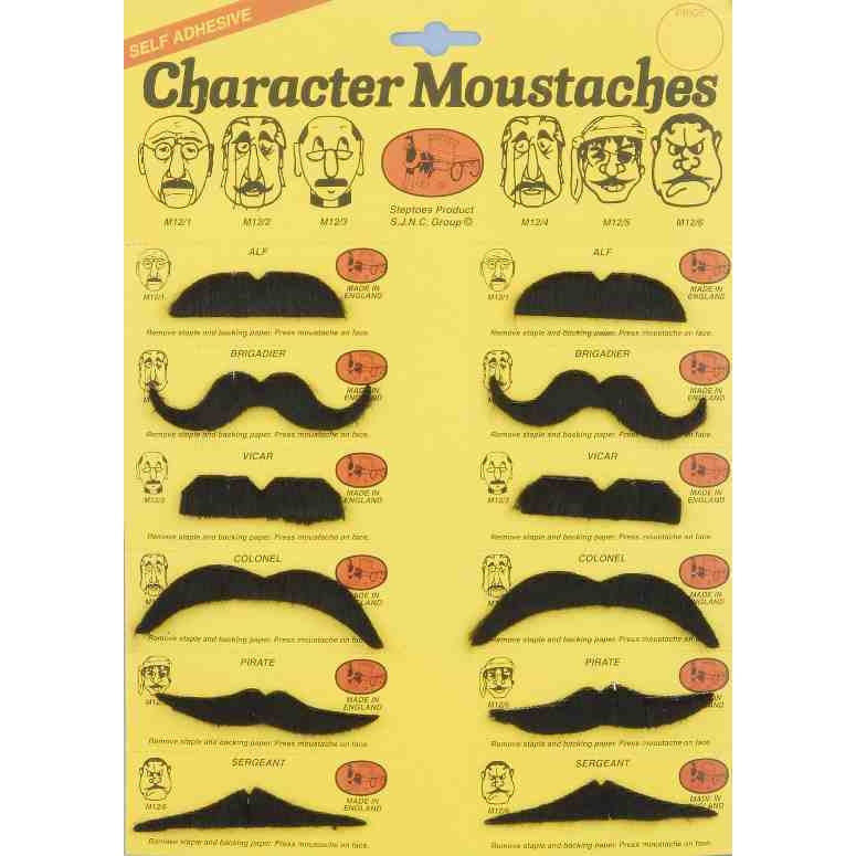 Moustache Character Card