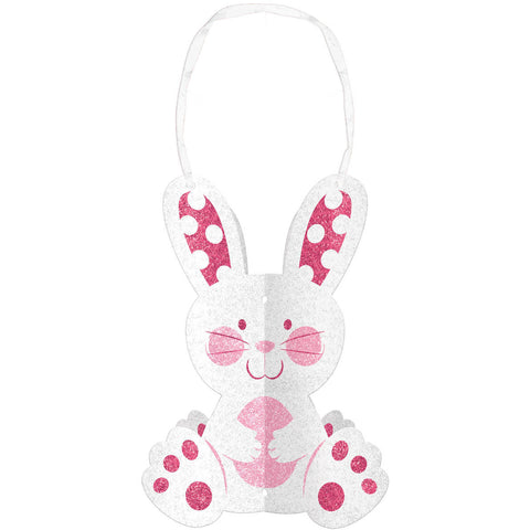 3D Glitter Bunny Decoration
