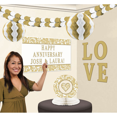 Gold Elegant Scroll Customizable Decorating Kit