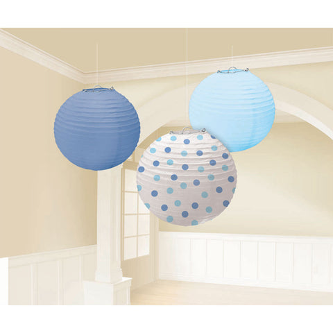 Baby Boy Paper Lanterns (3ct)