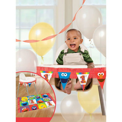 Elmo Turns One High Chair Decorating Kit