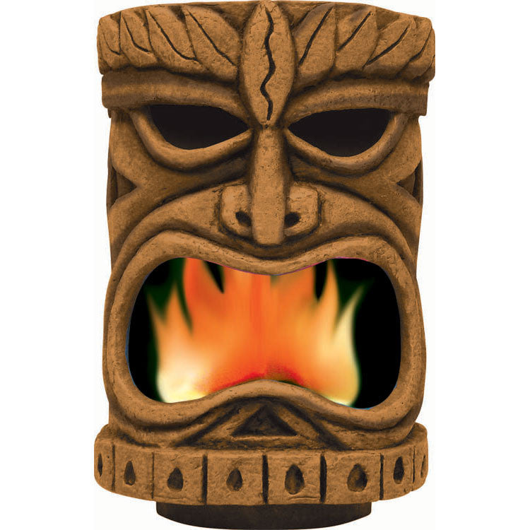 Tiki Head With Flame