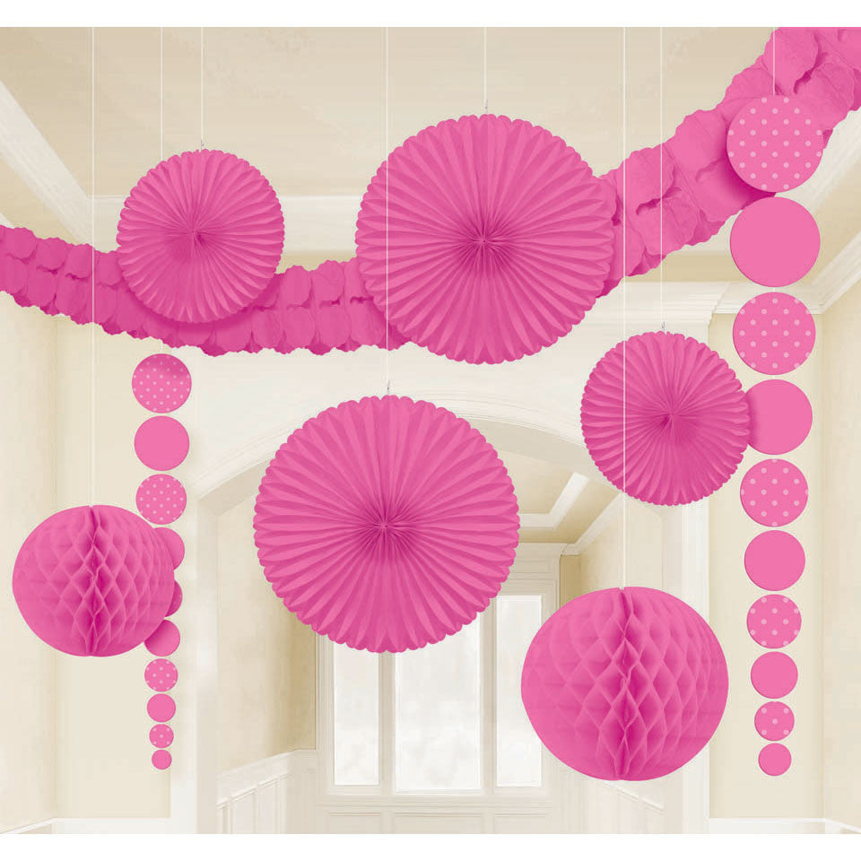 Bright Pink Room Decorating Kit