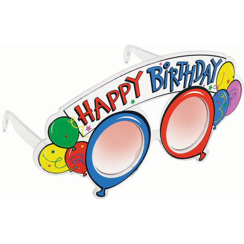 Balloon Party Birthday Glasses