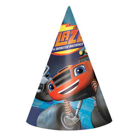 Blaze and The Monster Machines Paper Party Hats (8ct)