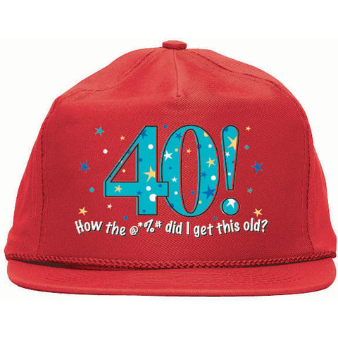 Over The Hill A Year To Celebrate Hat 40 1 Ct