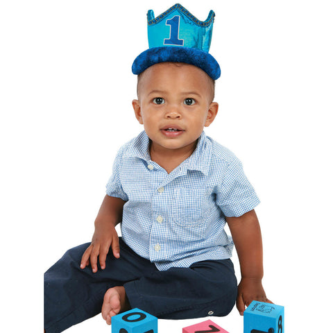 1st Birthday Boy Deluxe Crown