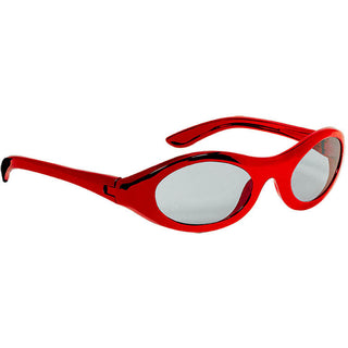 Red Oval Metallic Sunglasses