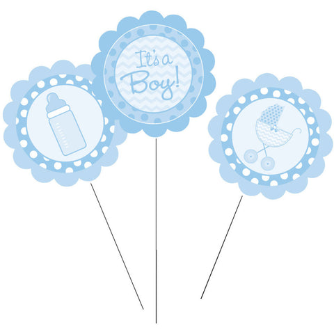 It's a Boy Centerpiece Sticks