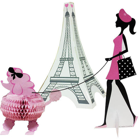 Party in Paris Centerpiece, 3D Diecut Stand-Up