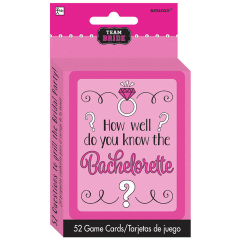 How Well Do You Know The Bachelorette Card Game