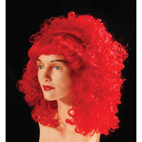 Curly Wig With Bangs Red
