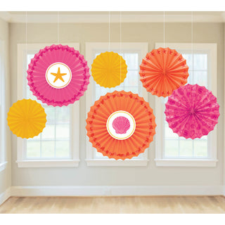 Summer Shells Paper Hanging Fans