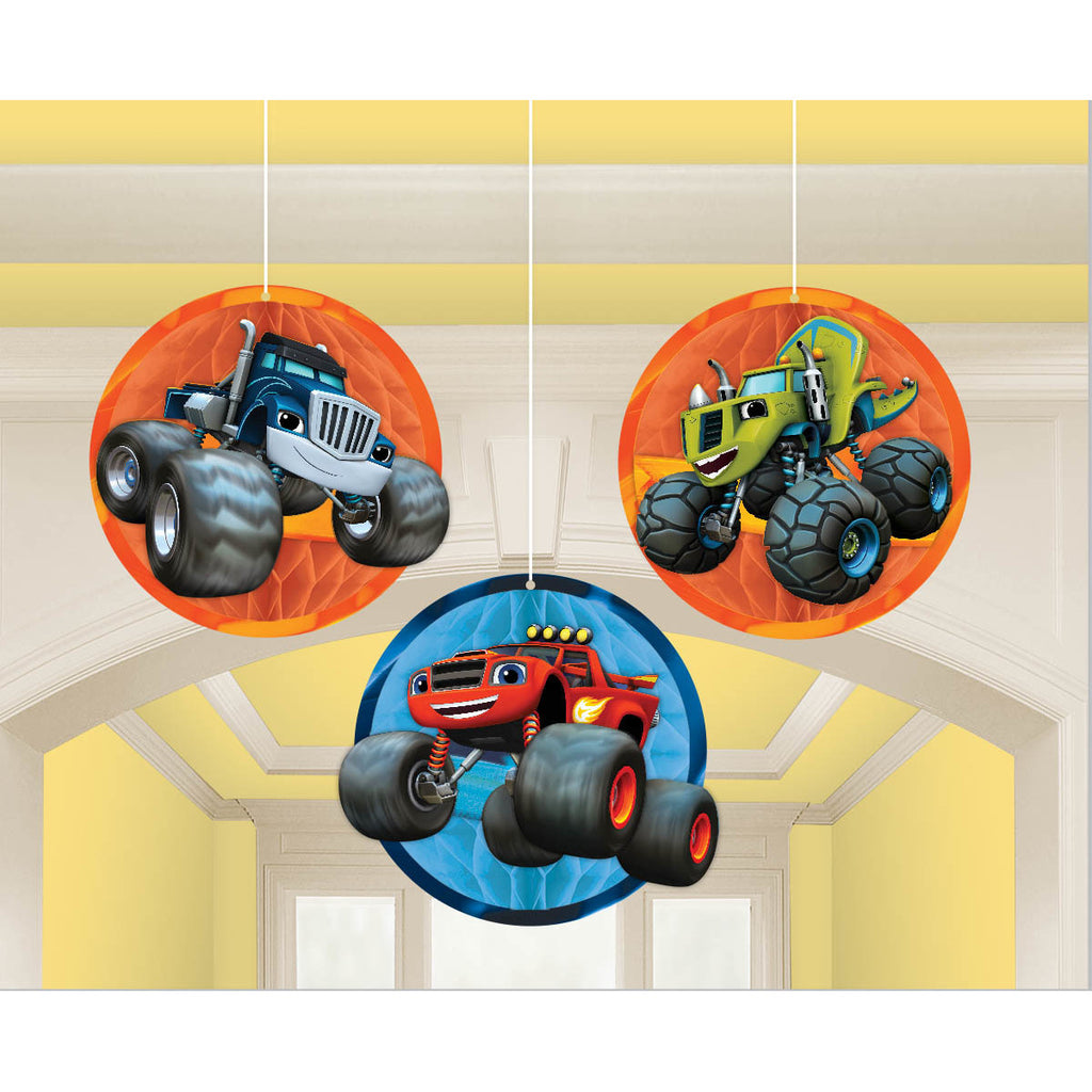 Blaze and The Monster Machines Hanging Decor (3 ct)