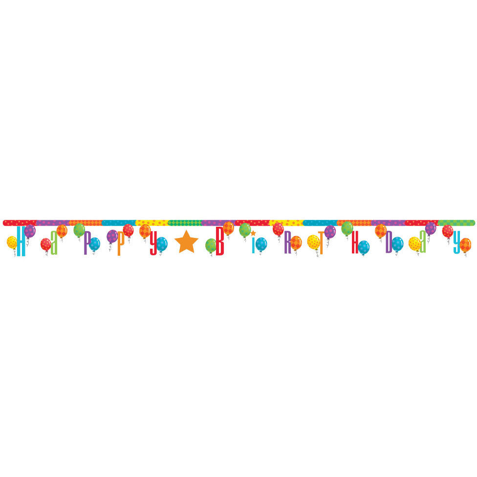 Balloon Patterns Letter Banner