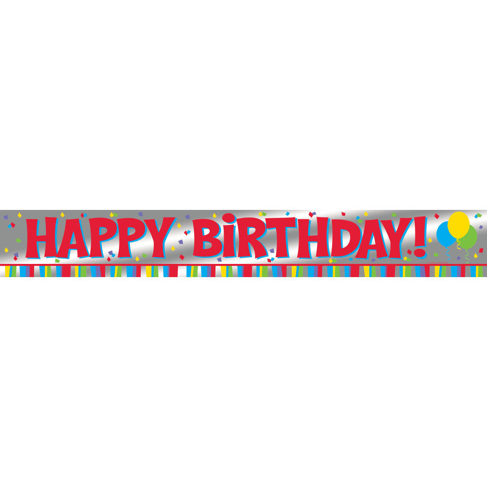 Happy Birthday 6' Foil Banner