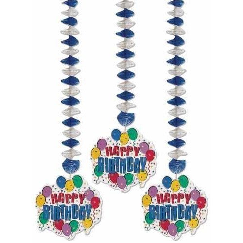 Balloon Party Danging Cutouts (3ct)