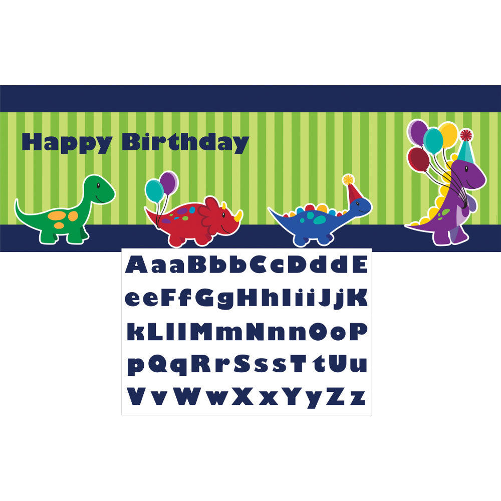Little Dino Party Banner