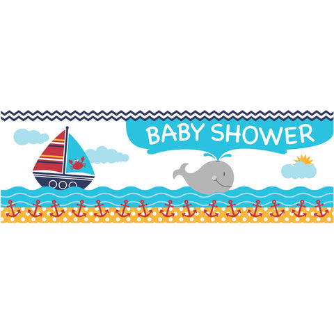 Ahoy Matey! Baby Shower Party Banner