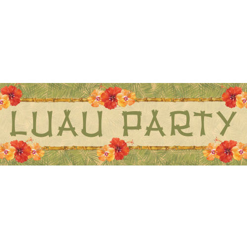 Bamboo Bash Giant Plastic Party Banner