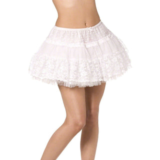 Fever Boutique Lace Petticoat White