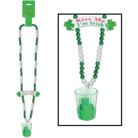 Beads w/St Pat's Shot Glass & Banner Bead