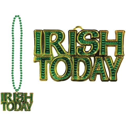 Beads w/Irish Today Medallion
