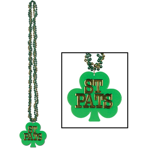 Braided Beads w/Shamrock Medallion