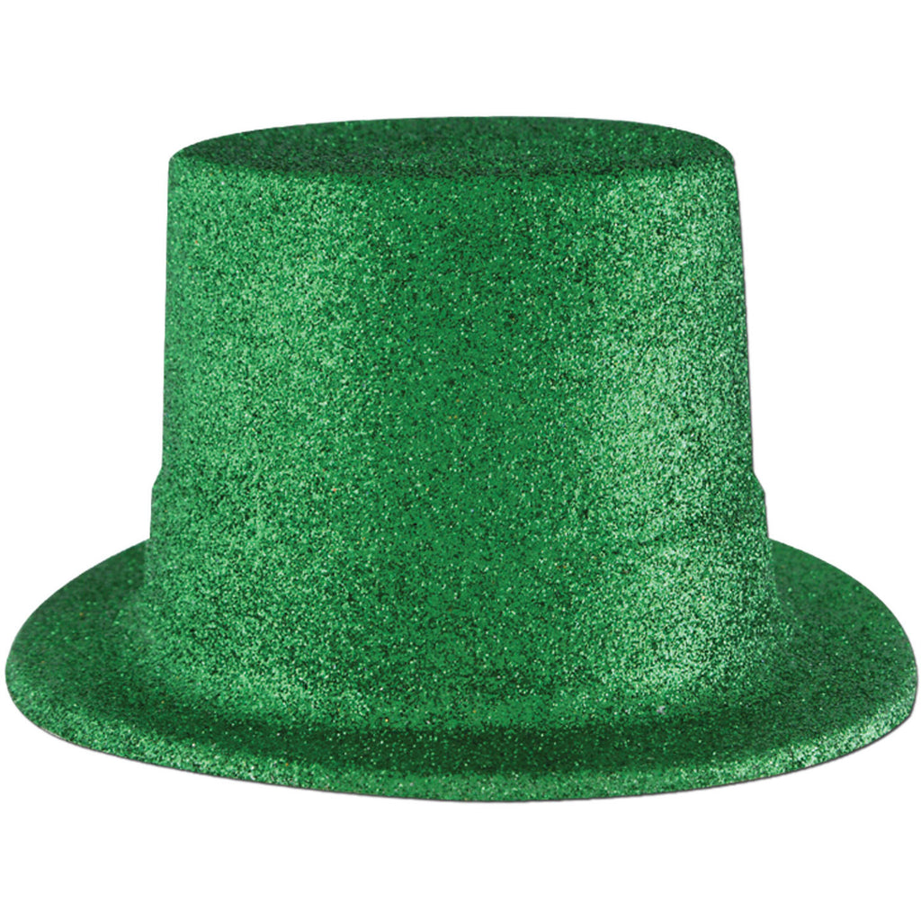Green Glittered Top Hat