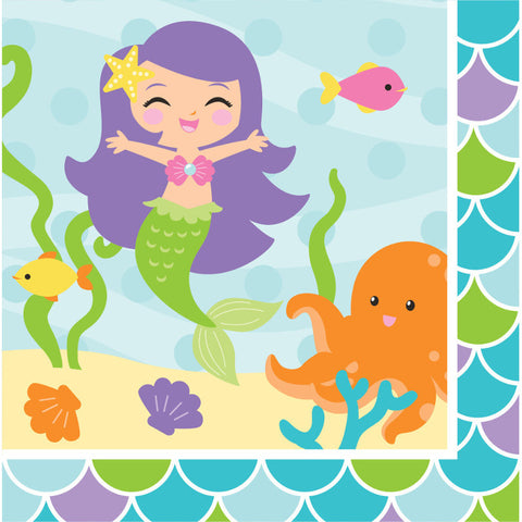 Mermaid Friends Luncheon Napkins (16ct)