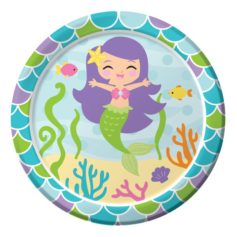 Mermaid Friends Paper Dessert Plates (8ct)