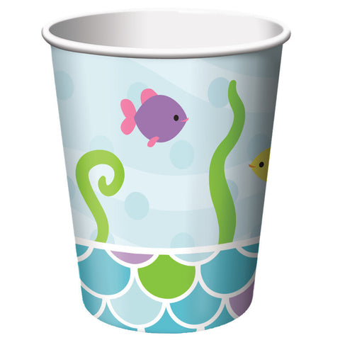 Mermaid Friends 9oz Paper Cups (8ct)