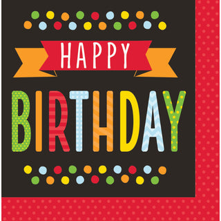 Polka Dot Birthday Luncheon Napkins (16 ct)