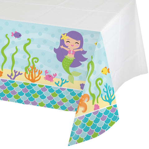 Mermaid Friends Rectangle Plastic Tablecover
