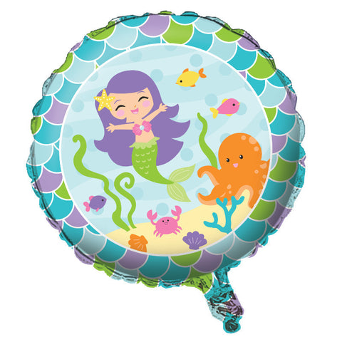 "Mermaid Friends 18"" Round Foil Balloon"
