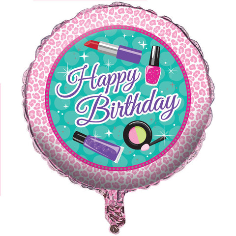 "Sparkle Spa Party 18"" Round Foil Balloon"